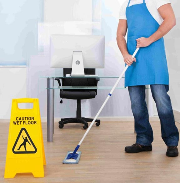 Photo of person mopping